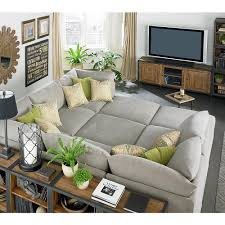 Extra Deep Couches Living Room Furniture by Appealing Sectional Pit Sofa 62 In Extra Wide Sectional Sofas With