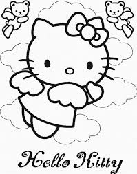 Hello Kitty Coloring Sheets