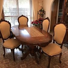 6 Chairs Table And Dining Room Armoire