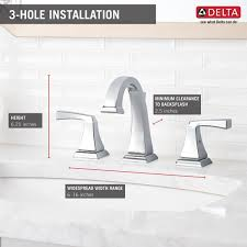 Delta Dryden Faucet Stainless by 3551lf Two Handle Widespread Lavatory Faucet