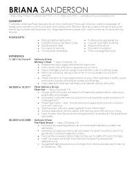 Sample Resume For Truck Driver Example Templates Free Professional