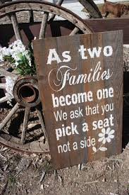 Rustic Wedding Sign As Two Families Become One Pallet Distressed Wood Country Western Reclaimed