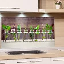 bilderwelten design spritzschutz glas küchenspiegel