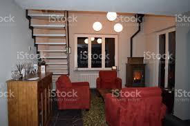 mein wohnzimmer an einem winterabend stockfoto und mehr bilder behaglich