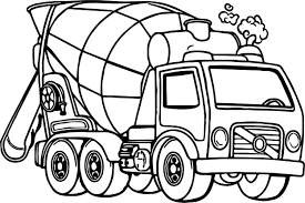 100 Truck Pages Coloring Coloring Bargain Cement Page Mixer