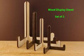 2 Wood Display Stand Easel Wooden