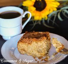 Bananas Foster Coffee Cake a la Ninette Cinnamon and Sugar