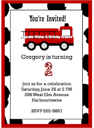 Fire Truck Invitation Template. Fire Truck Birthday Invitations ...