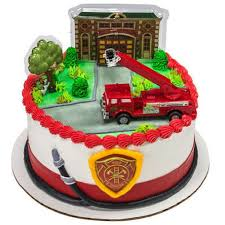 100 Fire Truck Cupcake Toppers Amazoncom And Station Cake Decorating Kit Topper