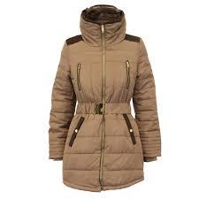 ladies parka jacket womens brave soul coat padded hooded fur belt