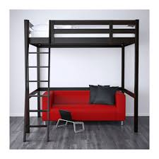 storå loft bed frame black ikea