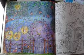 Fun With A Little Night Scene In The Secret Garden Coloring Book