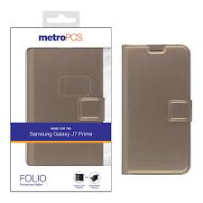 MetroPCS SAM Galaxy J7 Prime FOLIO Protective Wallet Downtown Cellular