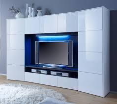 wohnzimmerschrank geschlossen wohnwand weiß hochglanz