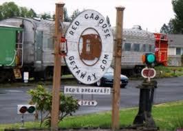 Red Caboose Getaway Bed & Breakfast in Sequim Washington Odd