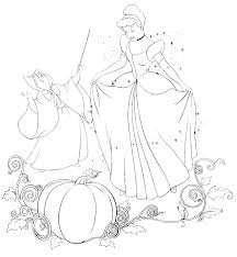 Cinderella New Coloring Pages 12