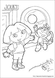Full Image For Dora Free Printable Colouring Pages Color The Explorer