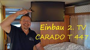 leni toni im wohnmobil heute baut toni einen 2 fernseher ein carado t447
