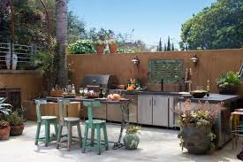 outdoor kitchen island design stainless steel grill and bbq light