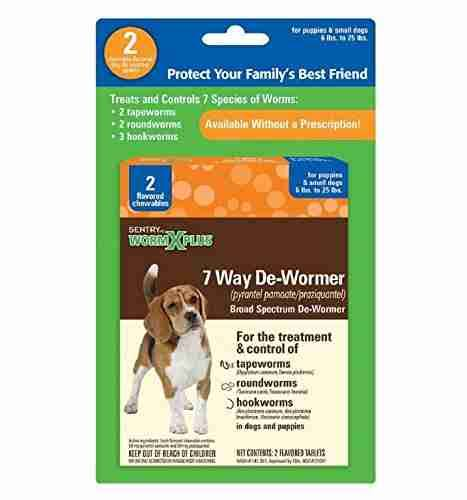 Sentry HC WormX Plus Dog Dewormer - for Puppies & Small Dogs, 6lbs to 25lbs