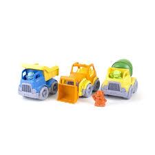 100 Construction Trucks Green Toys Gift Set Pack Of 3