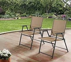Mainstay Patio Furniture Company by Amazon Com Mainstays Pleasant Grove Sling Folding Chair Set Of
