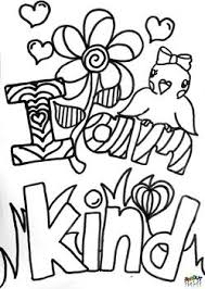 Kindness Affirmation Coloring Page