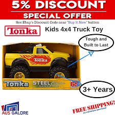 New Tonka 4 X 4 Truck Ute Toy Steel Classic Tough Kids Children Boys ... 1958 Beautiful Custom Tonka Truck Display In Toys Hobbies Diecast Tonka Dump Exc W Box No 408 Nicest On Ebay 1840425365 70cm 4x4 Off Road Hauler With Dirt Bikes I Think Am Getting A Thing For Trucks And Boats Classic Lot 633 Vintage Gambles Parts 2350 Pclick Joe Lopez Twitter Tonka Vintage Fire 55250 Pressed Steel Truck Deals Tagtay Promo Oneofakind Replica Uhaul My Storymy Story Steel Mighty Pressed Metal Yellow Diesel Large Toy