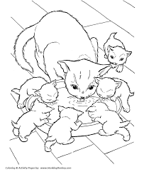 Pin KITTENS Clipart Coloring Book 9