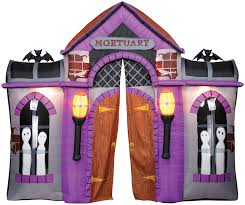Gemmy Inflatable Halloween Tree by Amazon Com Halloween Inflatable Mortuary Haunted House Archway