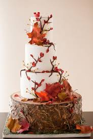 Fall Themed Cake Covered With Branches And Leaves From Wild Orchid Baking Company