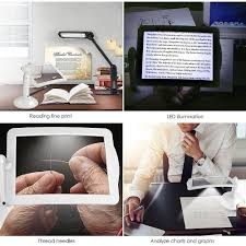 Desktop Led Magnifying Lamp Nz by Handsfree 3x Reading Full Page Magnifier 2led Magnifying Wallfire