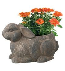 Rustic Garden Rabbit Planter