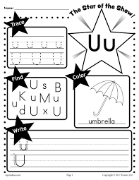 FREE Letter U Worksheet Tracing Coloring Writing & More