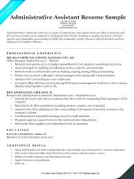 Dental Resume Template Resumes Samples Office Administrator Sample For Assistant