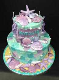 Unique Sea Foam Green & Purple Birthday Cake