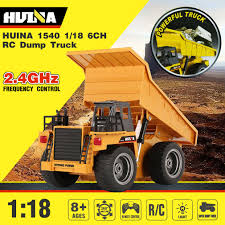 100 Rc Model Trucks Hot HUINA 1540 118 24G 6CH Alloy Version 360 Degree Rotation RC