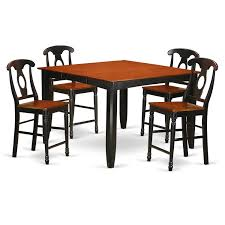 FAKE5H-BLK-W 5-Piece Counter Height Dining Table Set-pub Table And 4  Kitchen Dining Chairs. My 44 Ding Room Bistro Chairs Monica Wants It Top 51 Superlative Custom Mid Century Modern Counter Stools Hillsdale Monaco Parson Set Of 2 Espresso Walmartcom Chair Of 4 Elegant Design Fabric Upholstered For Grey Mainstays Richmond Hills Stackable Patio Better Homes Gardens As Low 18 At Gymax Armless Nailhead Wwood Legs Fniture Faux Leather The 8 Best Walmart In 20
