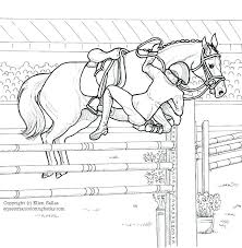 Coloring Pages For Horses Of Jumping Horse Printable Together With Cartoon