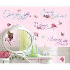 Ebay Wall Decor Quotes by Disney Princess Quotes Wall Stickers New Princesses Glitter Decals