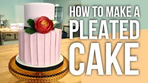 Wwe Divas Cake Decorations by How To Make A Fondant Pleated Cake Cake Tutorials Youtube