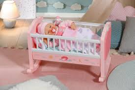 zapf creation baby annabell sweet dreams wiege rosa