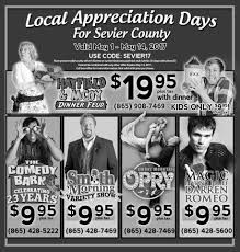 Local Appreciation Days In Sevier County - PigeonForge.com Comedy Barn Pigeon Forge Animal Show Youtube Coupon Site Mockup Apetrail Software Pvt Ltd The Theater Things To Do Sidesplitting Fun At Forges Pigeon Forges Comedy Extravaganza The Barn Best Read Ts Video Trailers For Hatfield Mccoys And Smoky Mtn Shows Save Money With Discounts Deals Coupons Rcoupons Not Red Skelton Tribute Christmas Murder Mystery Dinner Spotlight Acting School 25 Trending Forge Ideas On Pinterest