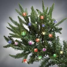 Slim Pre Lit Christmas Tree by The World U0027s Best Prelit Fraser Fir 7 5 U0027 Slim Led Hammacher