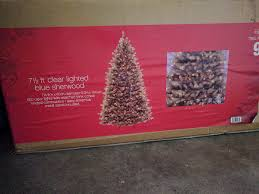 Used Pre Lit Clear Lights Christmas Tree Blue Sherwood 75 Ft For Sale In LYNCHBURG