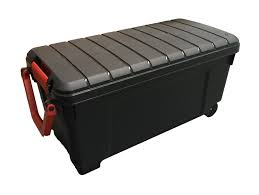 Heavy Duty Extra Long Mobile Plastic Storage Trunk Gear Box With ... Plastic Truck Tool Boxes Minimalist Outdoor With Box 4 Rust Proof Buyers Steel Underbody Walmartcom Poly By Dzee Boxs Bed Pickup Storage Black In Delta My Lifted Trucks Ideas Best Tools On Wheeled Stacks Bins Nz Gun Pictures Titan 32 Chesttt288000 The White Wheel Well Home Depot