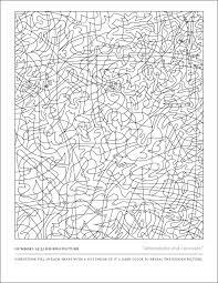Hidden Color By Number Printables