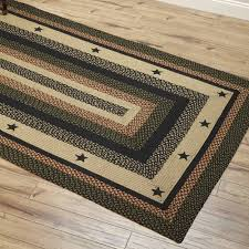 Full Size Of Area Rugsawesome Country Style Braided Jute Rugs Star Black Appliqued Also Large