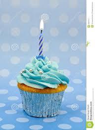 Baby blue first birthday cupcake