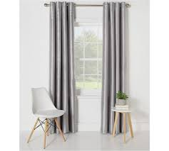 Light Grey Curtains Argos by Buy Collection Ella Faux Silk Lined Curtain Set 168x137 Silver At
